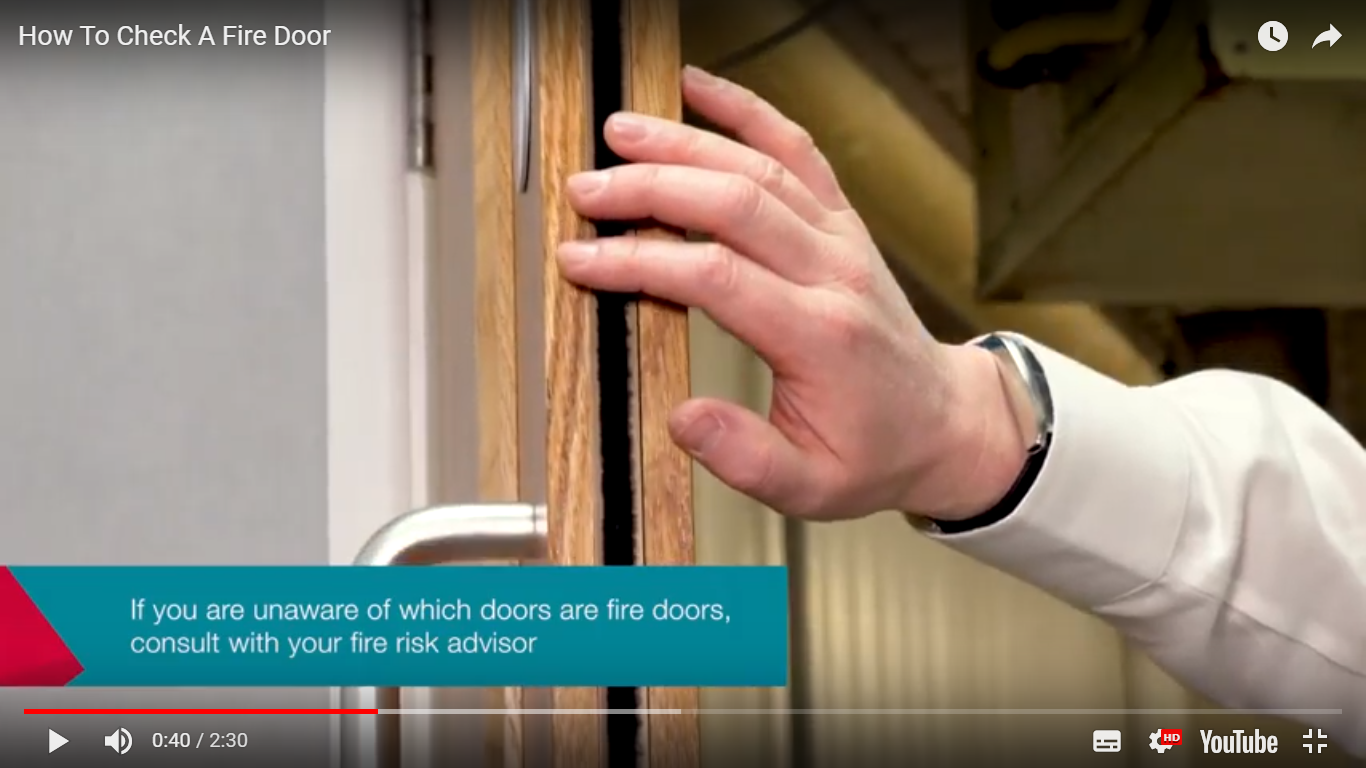 Check your fire doors: print out this checklist to help you