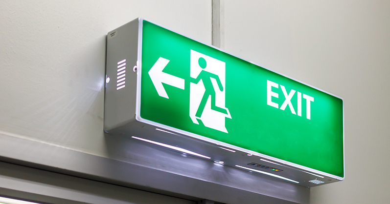 Green emergency light - emergency lighting regulations