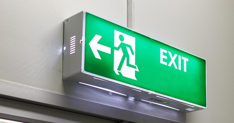Green emergency light - emergency lighting regulations