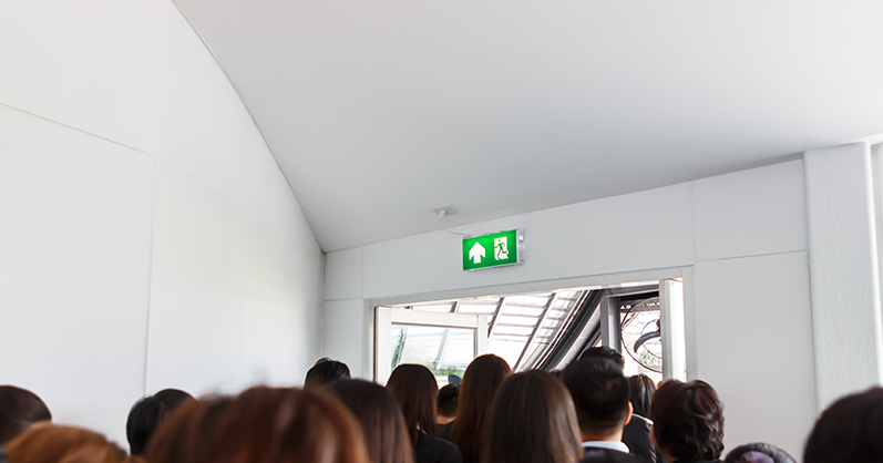 Emergency lighting escape route