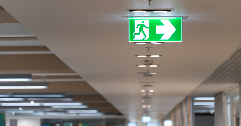 Green emergency exit lighting - everything you need to know about emergency lighting by Dorset Fire Protection