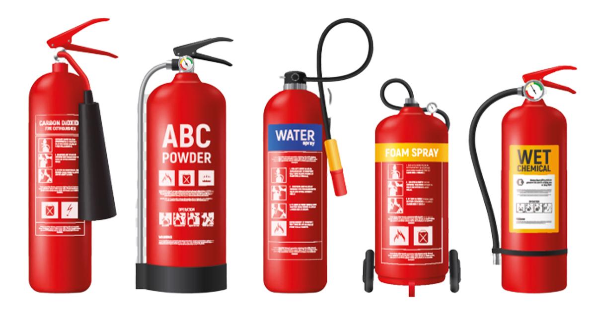 5 types of extinguishers