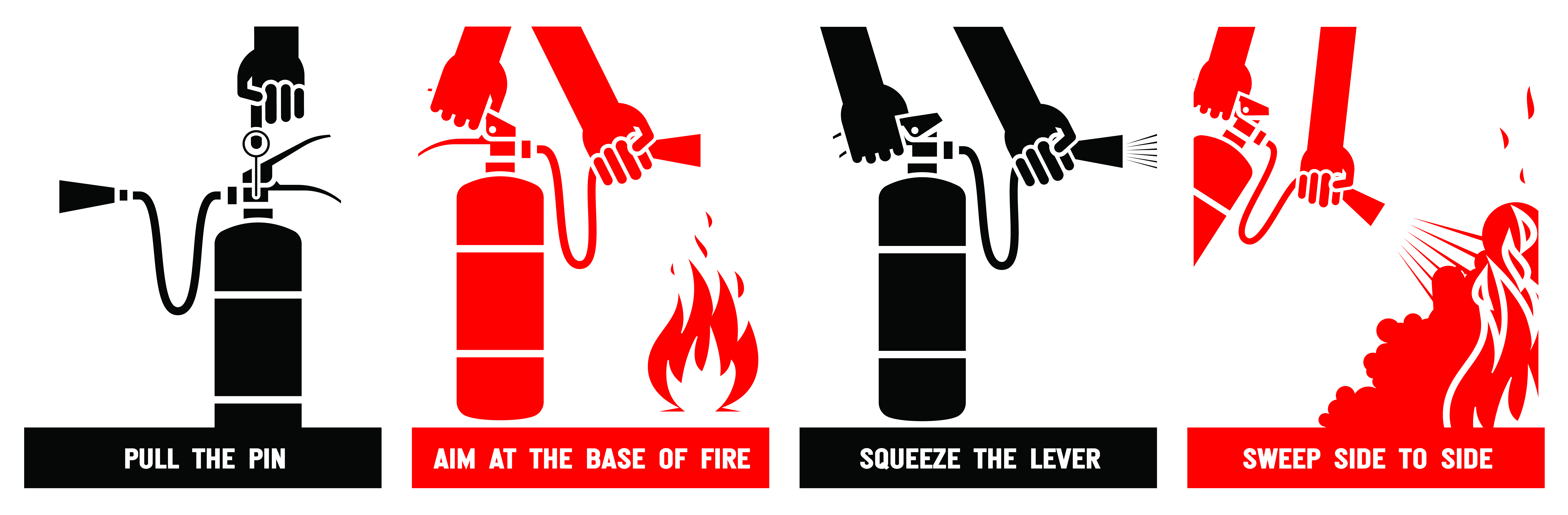PASS how to use a fire extinguisher