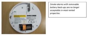 smoke alarm with battery