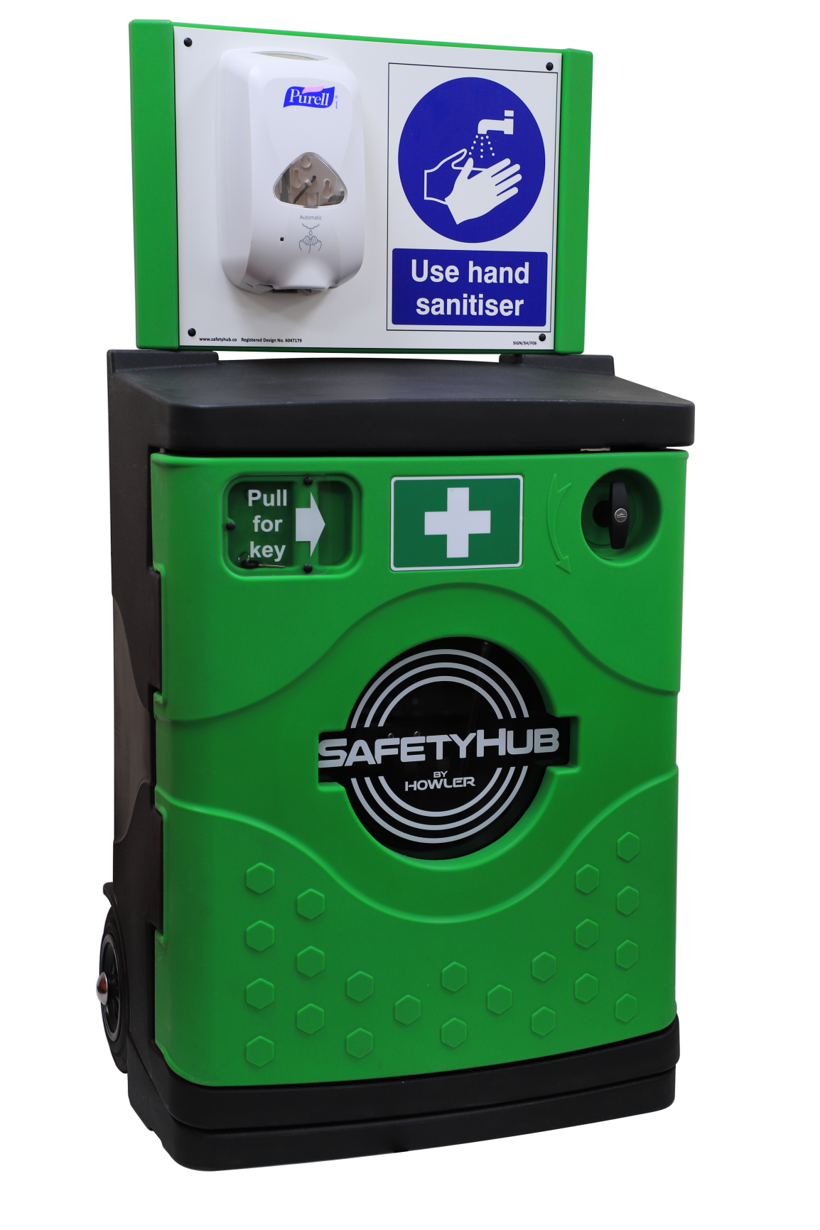 Mobile hand sanitiser station