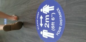 floor stickers for social distancing