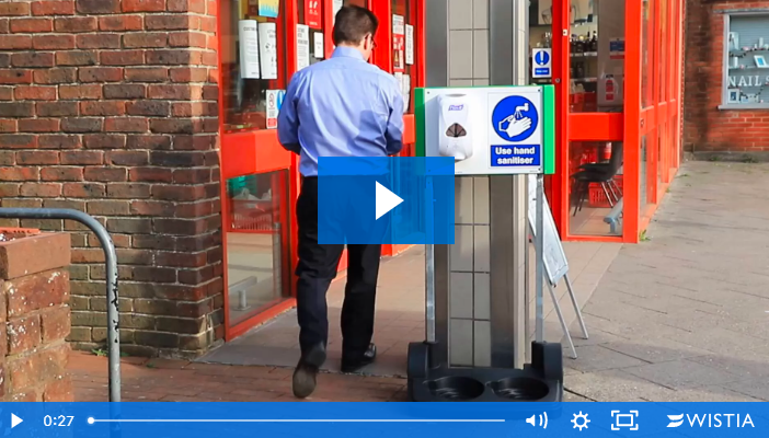 Watch the Mobile Hand Sanitiser Station in Action!